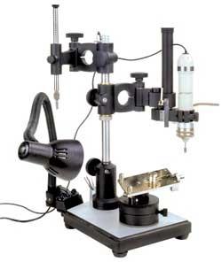 Параллелометр двухшарнирный с креплением для фрезерно-сверлильного устройства (с фиксацией)
