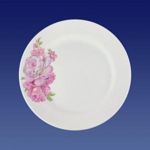 "Тарелка мелкая 200мм, гр. 8, ""Розовые розы"""