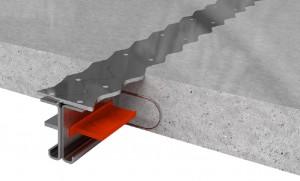 Деформационный шов. Несъёмная металлическая опалубка для бетонного пола
